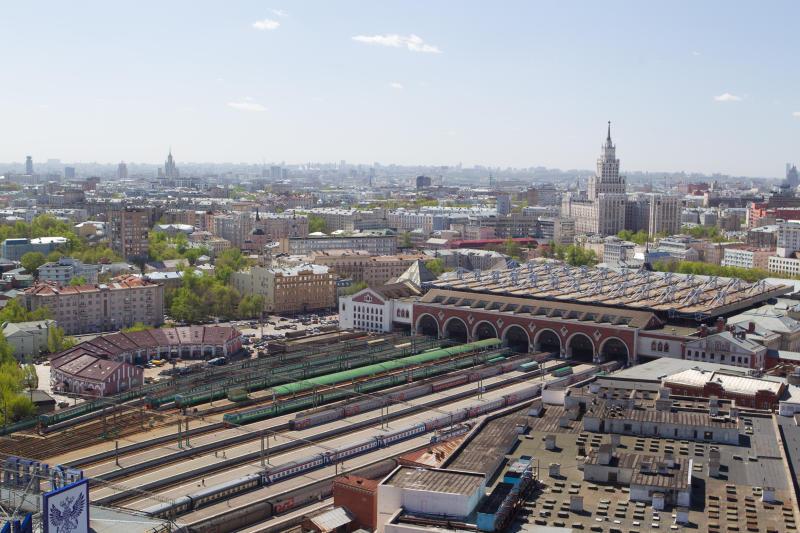 Вид на Казанский железнодорожный вокзал