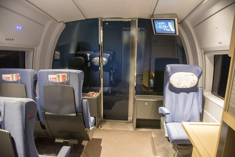 Места для пассажиров с маленькими детьми в поезде Сапсан