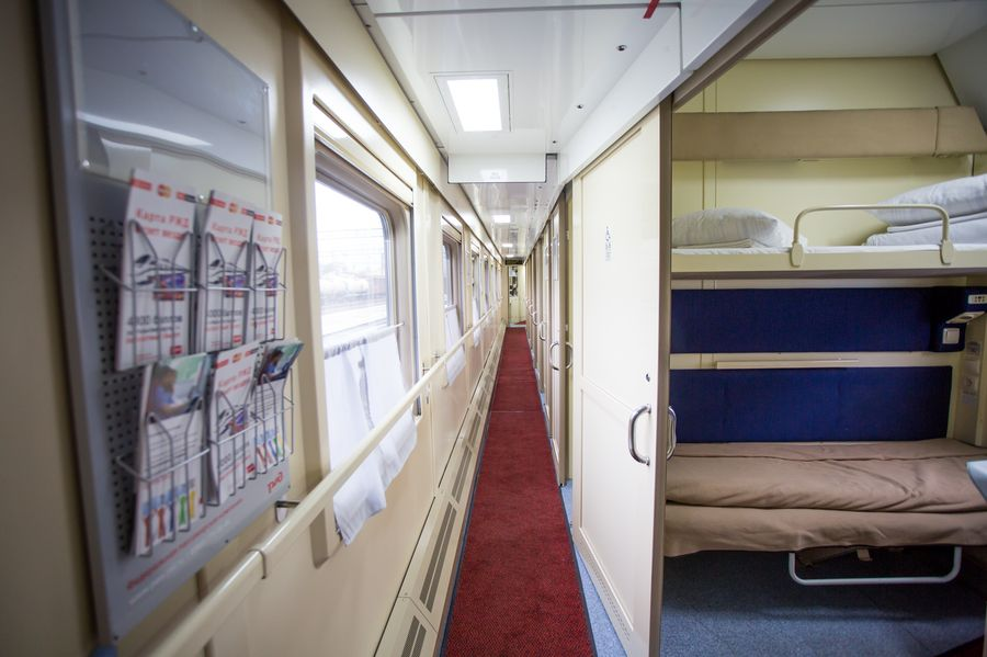 Фото купейного вагона поезда Томич
