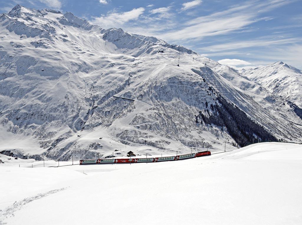 Ледниковый экспресс зимой
