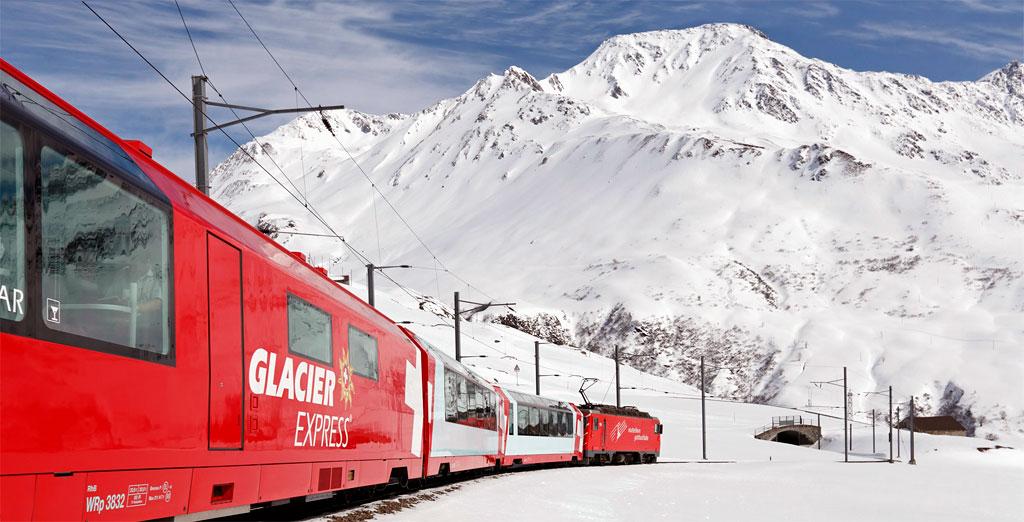 Поезд Glacier Express - Ледниковый Экспресс