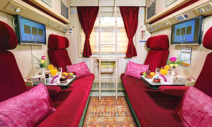 Купейный вагон 1-го класса поезда Ghazal