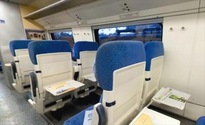 Фото внутри высокоскоростного поезда Pardis