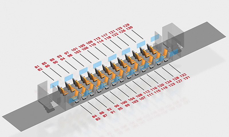 Схема вагона поезда Воронеж-Москва: 2 класс 2 этаж