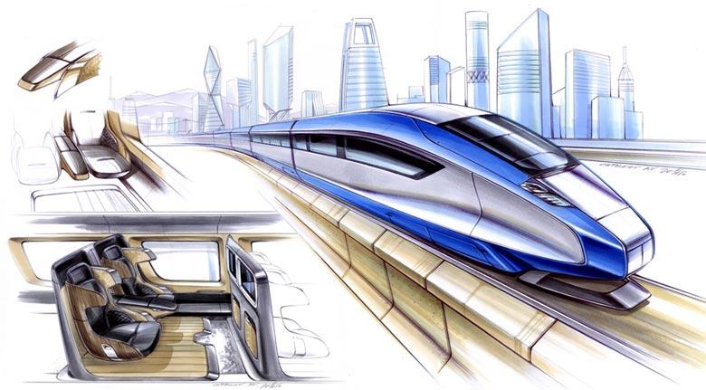 Высокоскоростной поезд будущего для ВСМ Москва-Казань