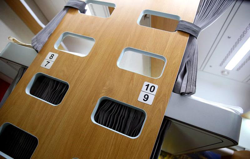 Лестница в новом плацкартном вагоне РЖД