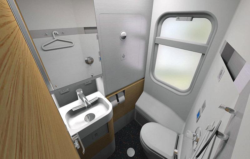 Туалет в новом плацкартном вагоне РЖД 2019 года