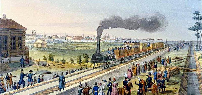 Царскосельская железная дорога - первый поезд в России
