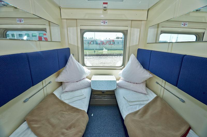 Фото СВ-купе в двухэтажном поезде 104 Москва-Адлер