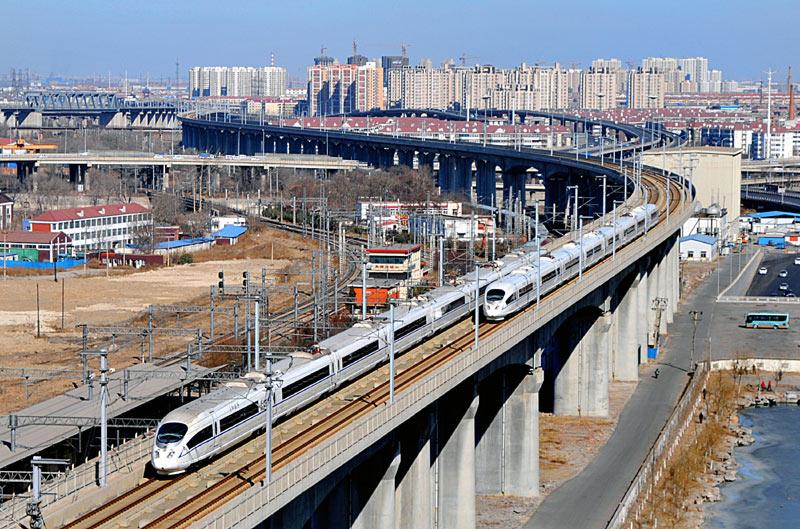 Скоростная железная дорога рядом с Шанхаем