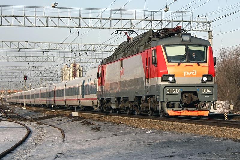 """Поезд """"Стриж"""" с электровозом ЭП-20"""