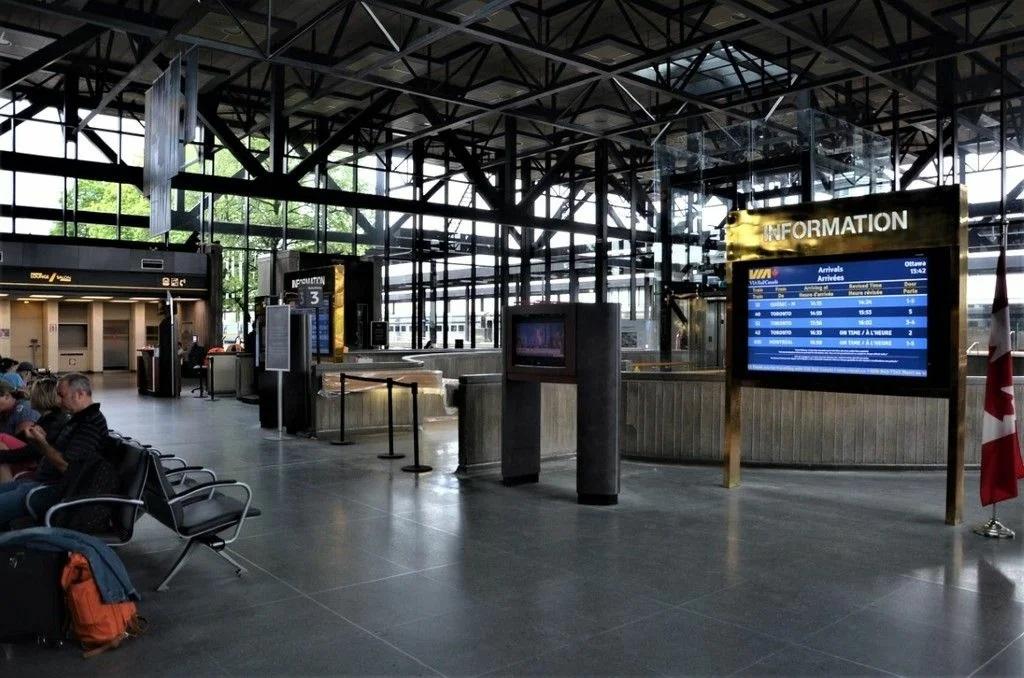 Железнодорожный вокзал Оттавы внутри