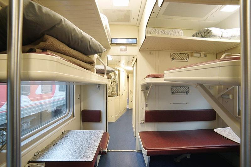 Фото плацкартного вагона поезда Москва-Севастополь