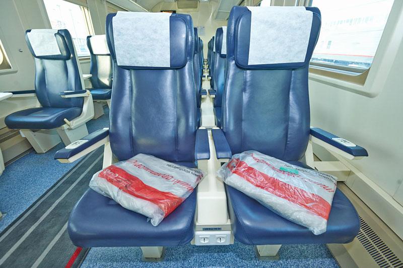 Фото вагона 1 класса в поезде Ярославль-Москва