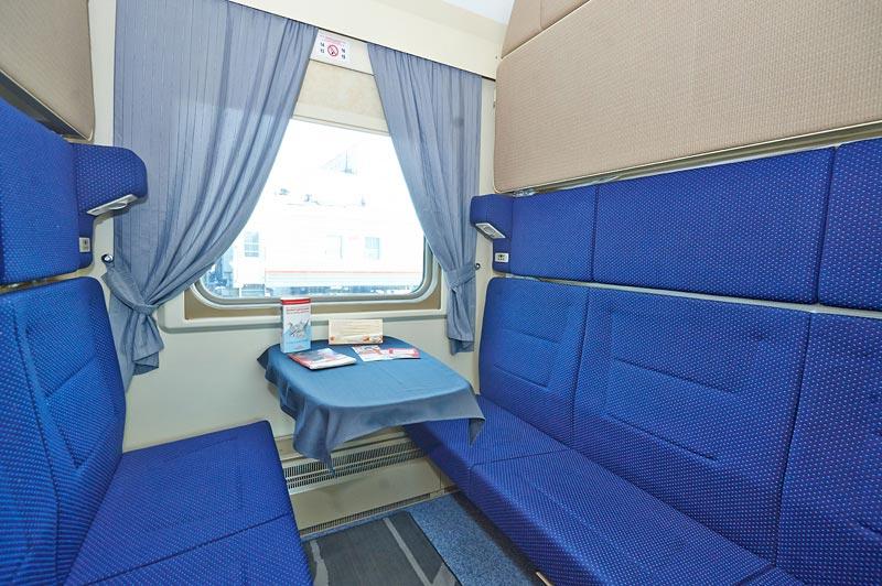 Фото купе в поезде Ярославль-Москва-Ярославль