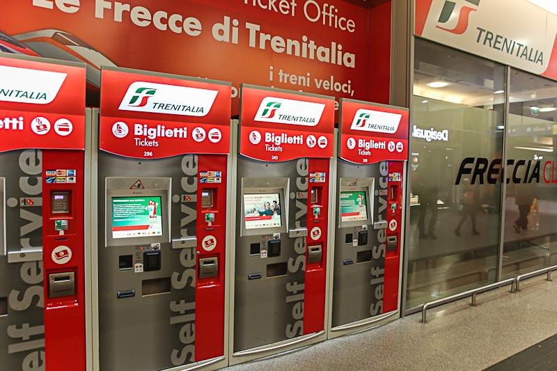Киоски для покупки билетов на поезда в Италии