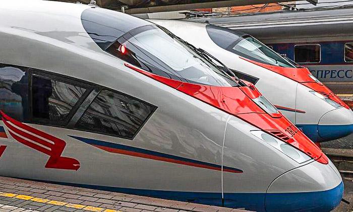"""Новый поезд """"Сапсан"""" образца 2019 года"""