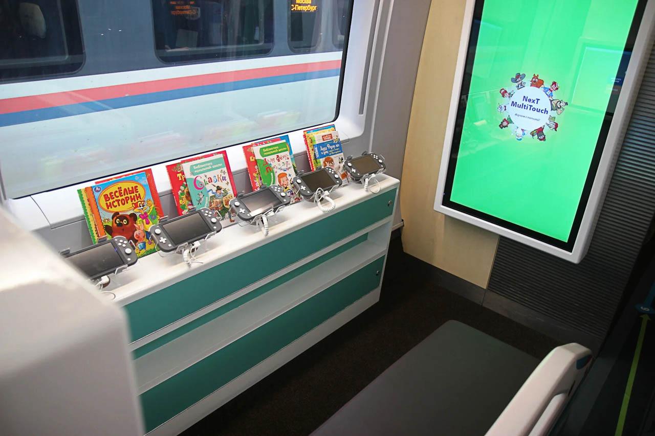 """Детская игровая зона в семейном вагоне поезда """"Сапсан"""""""