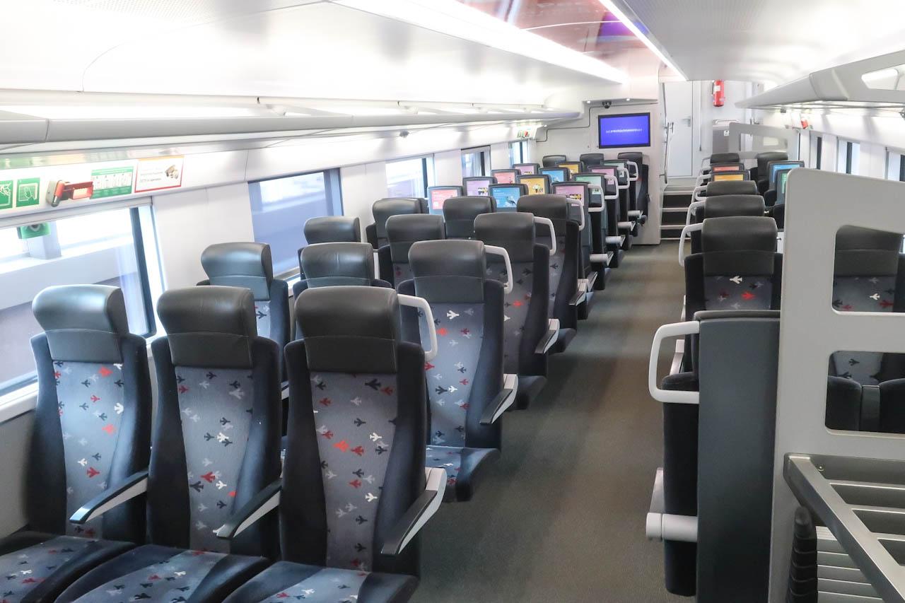 Внутри поезда Аэроэкспресс