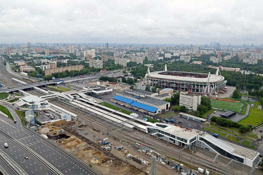 Общий вид станции Черкизово в Москве (Восточный ЖД вокзал)