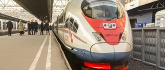 Из Питера в Москву на скоростном поезде «Сапсан»