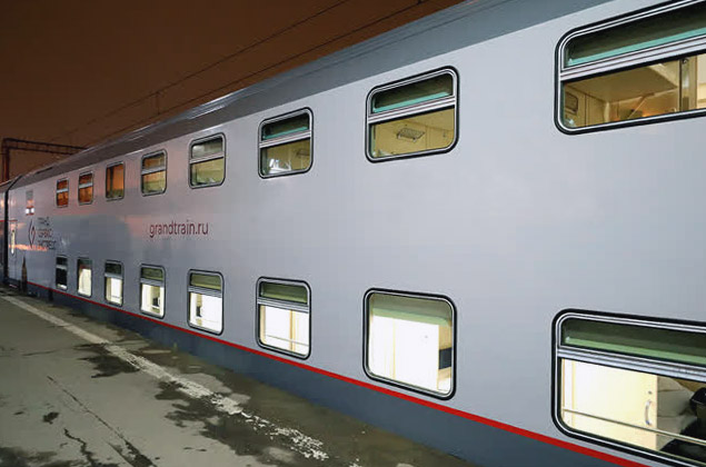 Двухэтажный поезд Москва - Симферополь