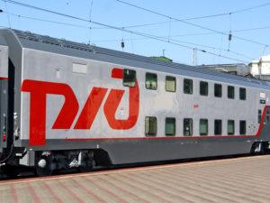 Двухэтажный поезд 104 Москва-Адлер